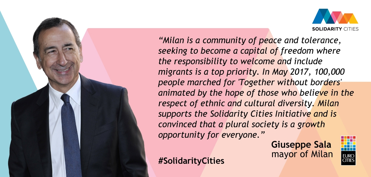 Mayor of Milan Giuseppe Sala on Solidarity Cities