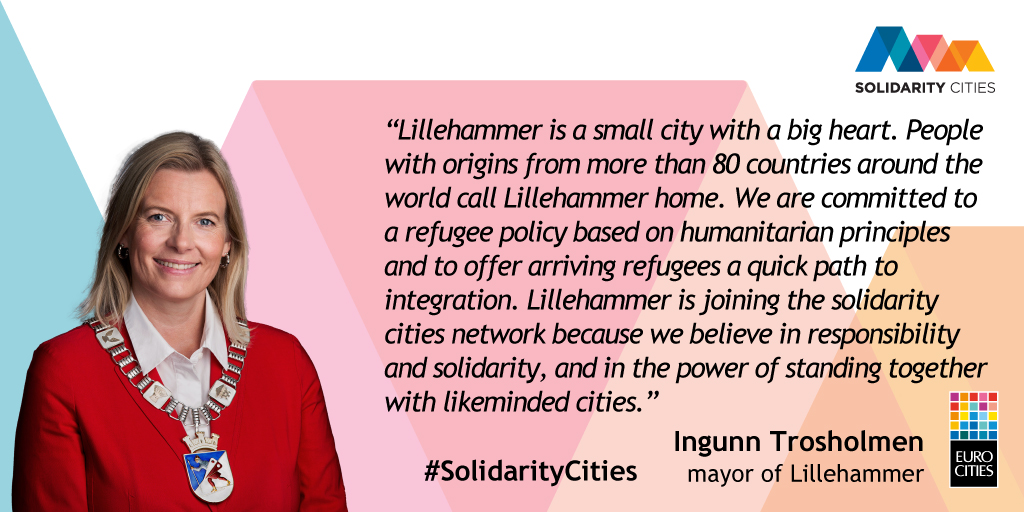 Mayor of Lillehammer Ingunn Trosholmen on Solidarity Cities